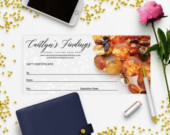 Gift Certificate Printable - Gift Certificate Download - Printable Gift Certificate   Gift Certificate Design - Jewelry 1-17