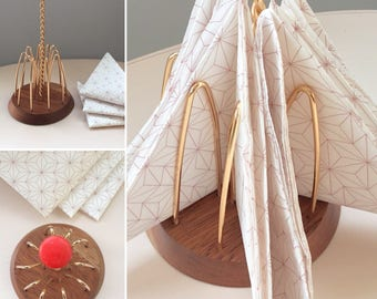 Vintage/Retro Napkin Holder - Wyncraft, 1950's, Wooden Base, Retro Dining, Vintage Styling