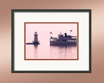 Burlington Lighthouse, Burlington, Vermont, Lake Champlain