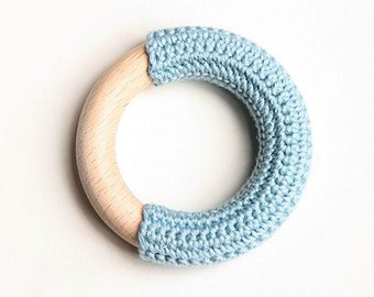 Baby blue teething ring / First Toy