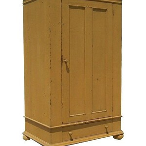 Primitive Wardrobe Armoire Tv Cupboard Cabinet Entertainment Center Painted  Custom Colonial Country Reproduction Furniture