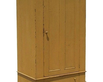 Primitive wardrobe armoire tv cupboard cabinet entertainment center painted cottage shabby chic  country reproduction furniture