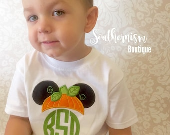 Fall Shirt, Boys Fall Monogram, Personalized Halloween Shirt, Boys Halloween Shirt, Mouse Halloween Shirt, trick or treat shirt, girls