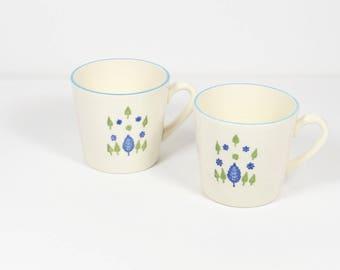 Stetson Marcrest Swiss Alpine Chalet Mugs - Set of 2 Vintage Coffee Cups