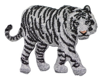 White Tiger Applique Patch (Iron on)