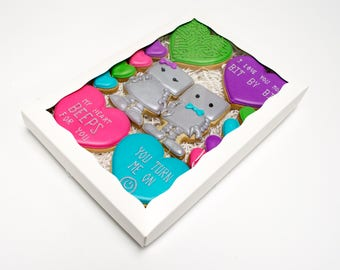 Decorated Cookies - Robot Gift Box