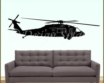 UH-60 BLACKHAWK hélicoptère vinyle Wall Decal M-104
