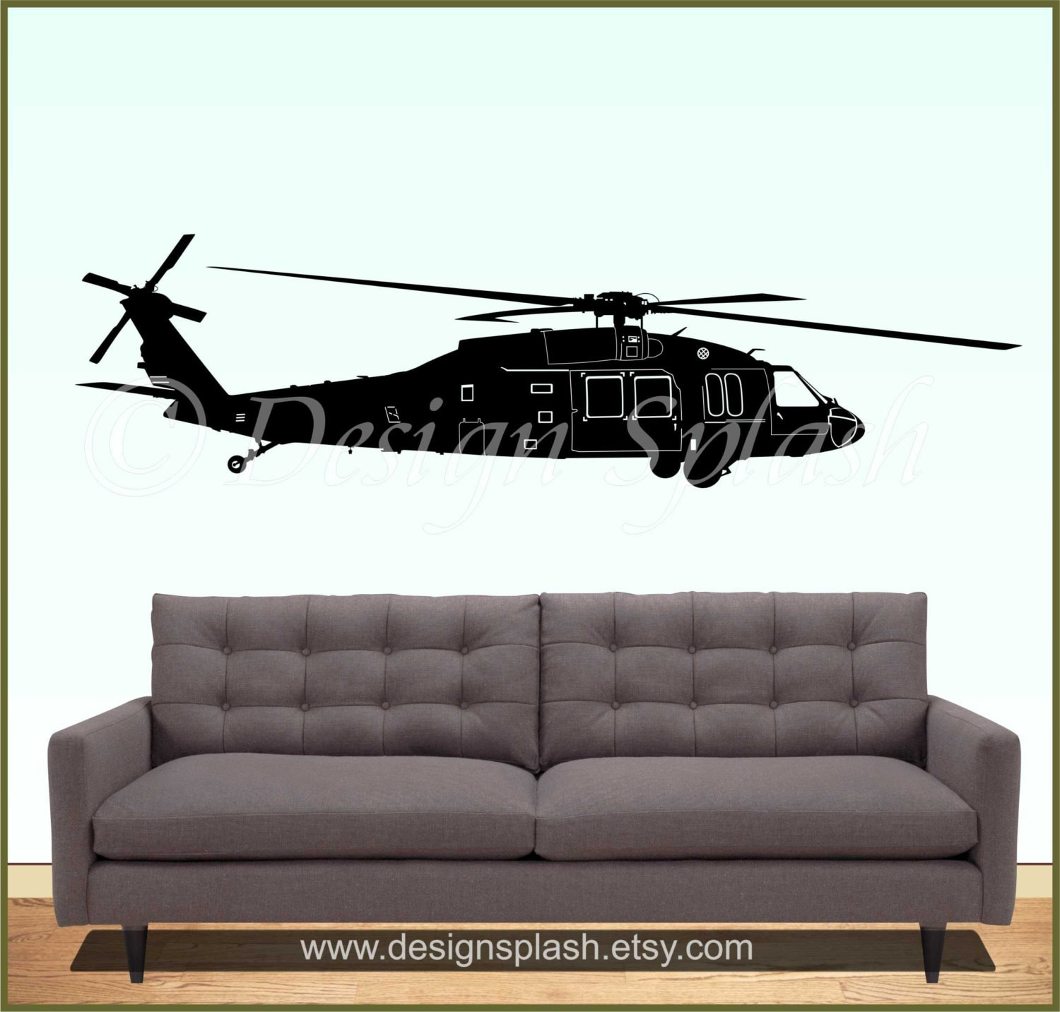 UH 60 BLACKHAWK Helicopter Vinyl Wall Decal M 104