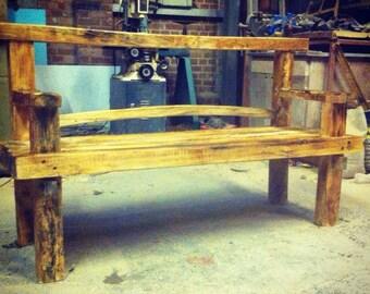 Handcrafted Garden Bench Japanese Zen Inspired