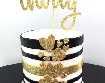 Cake topper   Foil   Glitter   Birthday   Thirty   30