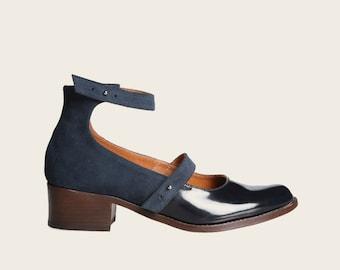 Elegant Leather Shoes, Handmade Leather Heels, Leather Mary Janes, Classic Leather Shoes, Casual Leather Shoes, Handmade Buckle Shoes
