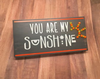 you are my sunshine, light up sign, nursery decor, nursery art, new mom gift, baby shower gift, kids, children's bedroom decor, lyric quote