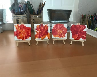TILE art coasters alcohol inks abstract