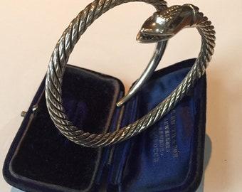Snake Bangle, Snake Jewelry, Vintage Snake Bangle, Silver Snake Bangle, Sterling Silver, Snake Jewellery, Snake Bracelet, Snake Bangle.