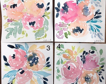 Spring Floral Watercolor Minis