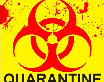 Biohazard Zombie outbreak quarantine sign personalized custom made Decorative aluminum sign can be used as a door sign