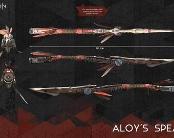 aloy spear horizon zero dawn cosplay costume handmade replica