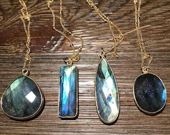 Labradorite necklace- medium size