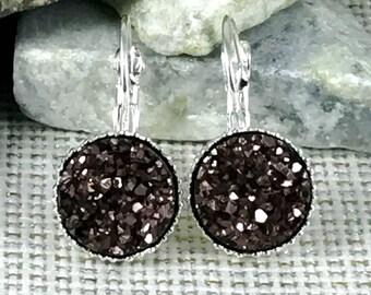 Copper Druzy Earrings - Druzy - Leverback Earrings - Druzy Earrings - Drusy - Earrings - Druzy Jewelry - Copper - Drop Earrings - Jewelry -