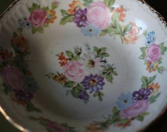 Swinnertons Small / Trinket Dish ~ Vintage Staffordshire Made in England ~ Luxor Vellum Reg No. 837606