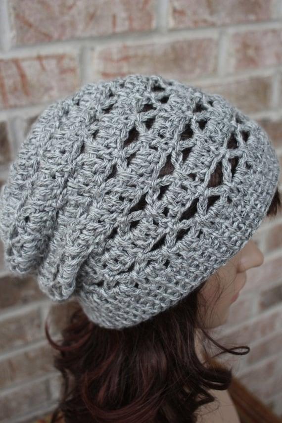 Lacy crochet cap pattern crochet beanie pattern hat pattern dt1010fo