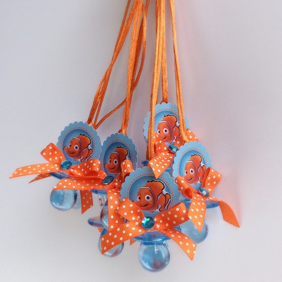12 Finding Nemo Pacifiers Necklace Finding Nemo Baby Shower