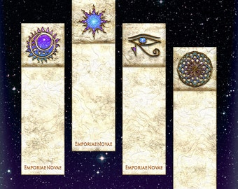 Cosmic Egg - Bookmarks - Spiritual New Age Horus Wadjet Awake - Instant Digital Download-Printable DIY Gift Box Papercraft - Arts and Crafts