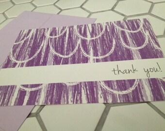 """wax print notecard (light purple), set of 25, 7"""" W x 5"""" H"""