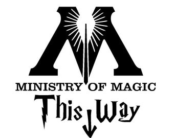 Ministry of Magic This Way SVG