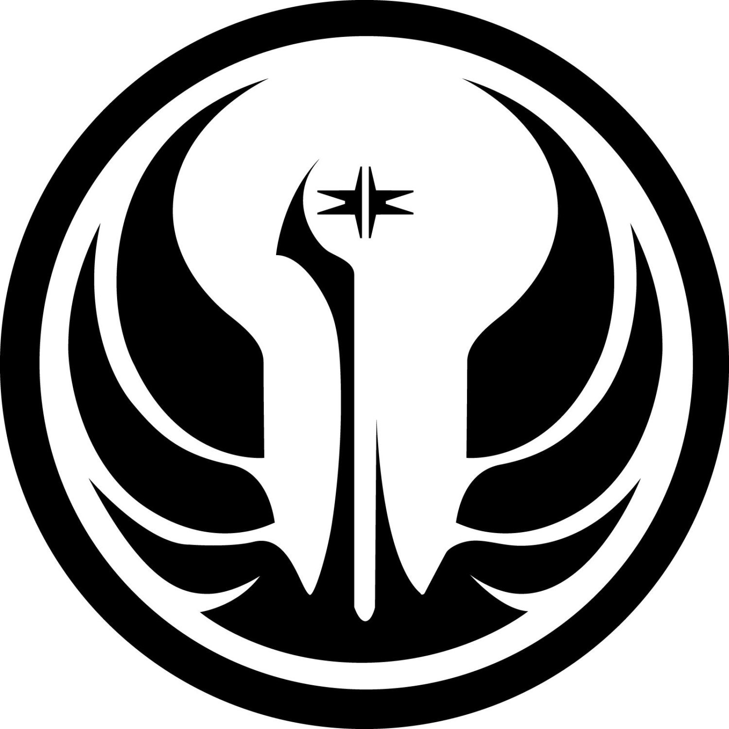 Star wars old republic jedi order logo vinyl sticker window request a custom order and have something made just for you biocorpaavc