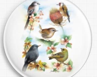 Needle Minder, Cross Stitch, David Finney , CrossStitch, 'The Garden', Minder, Cross Stitch Keeper, Fridge Magnet, Pin Keeper,