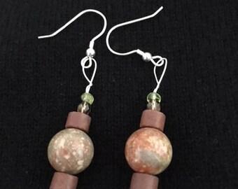 Unikite Bead Earrings