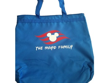Disney Cruise Line DCL Inspired Tote Bag Optional Personalization Fish Extender FE Gift
