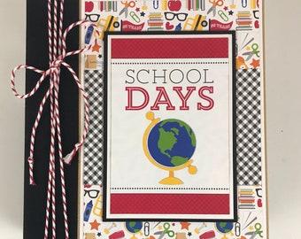 School Scrapbook Album Kit or Pre-made preschool high school elementary middle