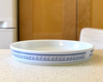 Pyrex 486 Brittany Blue 9 1/2 inch Vintage Quiche Tart Torte Pie Dish Made in the USA, 486-B Ovenware