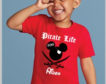 Disney Pirate Shirt, Pirate Life Shirt, Boy's Disney Tee
