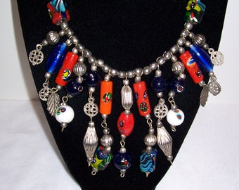 Necklace,Mexican Necklace, Earrings, Mexico, Beaded Necklace