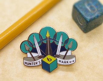 Hunter's Mark Dungeons and Dragons Pin, Ranger Dnd Enamel Pin, d20 Pin, Tabletop RPG pin, Dungeon Master Gift, D&D pin, Dnd Dice pin