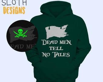 Glow in the dark Dead men tell no tales Pirates Pullover Hoodie Women Men Children Hoodie