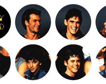 8 - 1 inch The Outsiders buttons, keychains, or flatbacks
