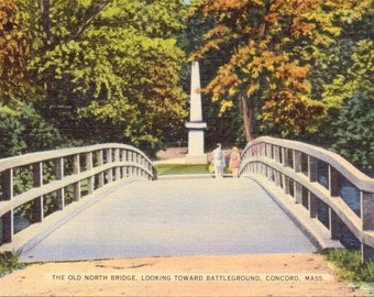 Concord, Massachusetts, Old North Bridge - Vintage Postcard - Postcard - Unused (OO)