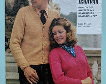 His & hers vintage knitting pattern
