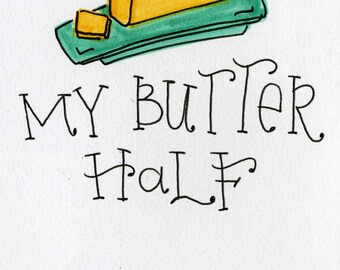 Butter Half  - A7 FREE Shipping