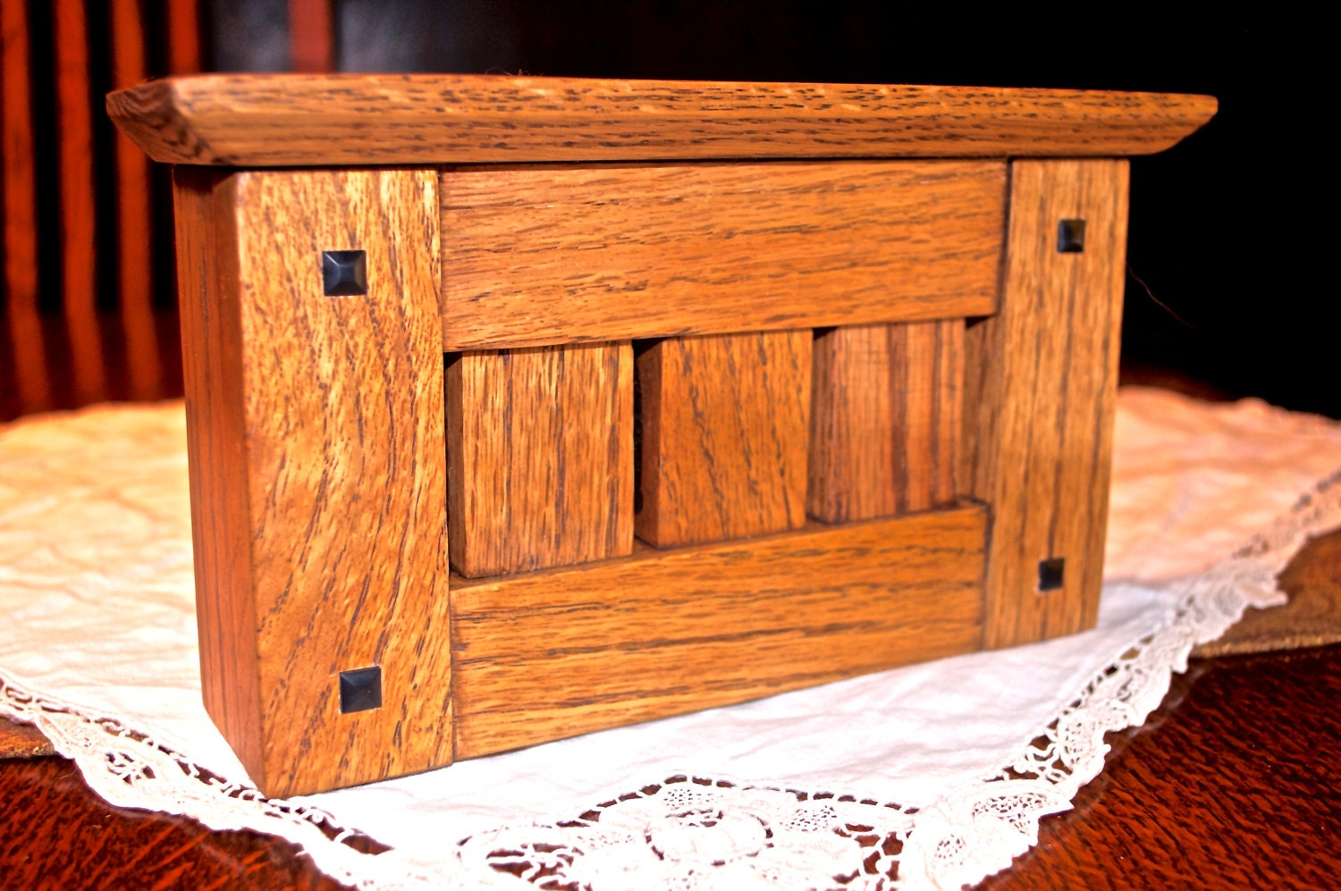 Solid Hardwood Doorbell Chime Cover Stickley Arts Crafts
