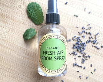 Natural Air Freshener - Fresh Air Room Spray | Kitchen & Bathroom Spray | Non-Toxic Spring Cleaning | Pet Safe Room Mist | Housewarming Gift