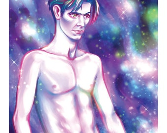 Space Bowie 8x10  Art Print
