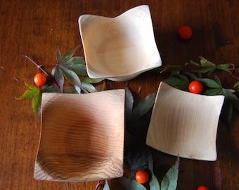 Vasetti squadrati in frassino, Ash made squared cups, Arredamento, Rustic Home decor, Wood, Legno, Handmade, Woodturning, Turning, Tornitura
