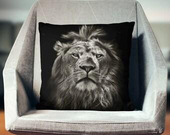Lion Pillow   Lion Decor   Lion Gifts   Safari Decor    Lion Home Decor   African Gifts   African Pillow   Safari Bedding   African Decor