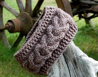 Hand knit headband, Knitted Headband, Knitted Ear Warmer, Hand knit hair accessory, knitted turban,  hand knit turban