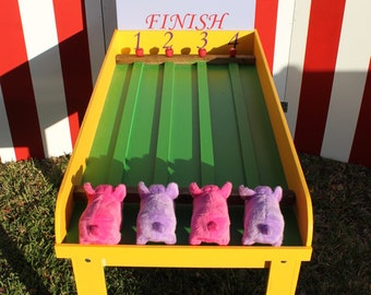 Pig Race Game, Lawn Game, Carnival Game, Backyard Game, Corporate Games, Bacon Run Game, Birthday Party Games